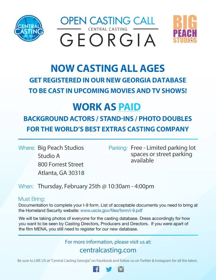Central Casting Open Casting Call