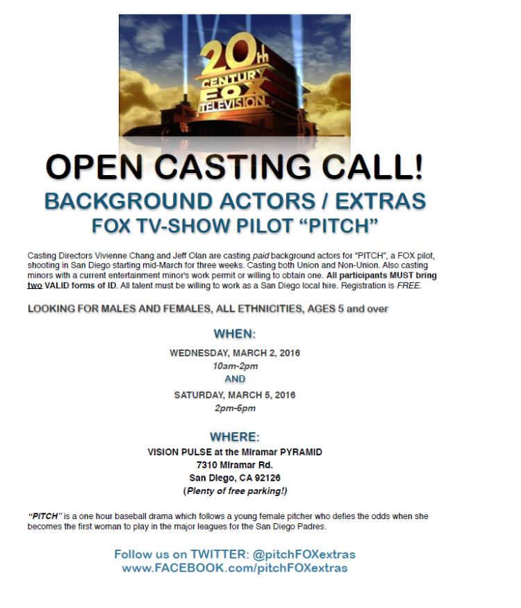 Fox Pitch Casting Call