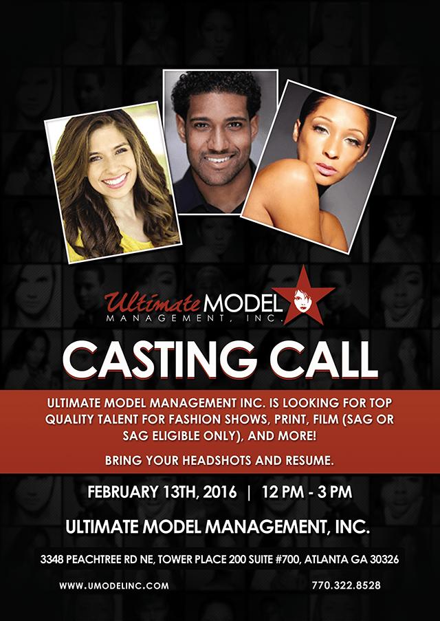 UMMI Talent Agency Atlanta Open Casting Call for New Talent
