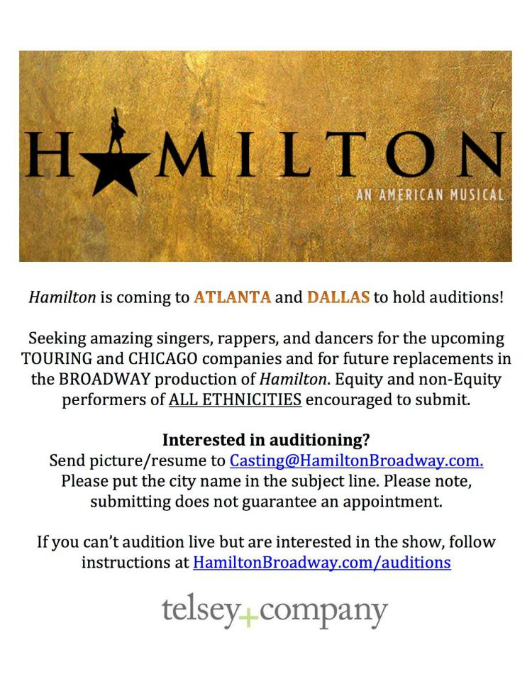 Hamilton Auditions