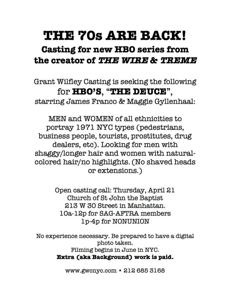 HBO The Deuce Casting