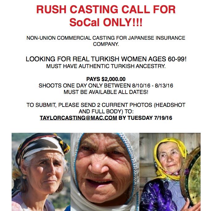 Turkish Casting Call