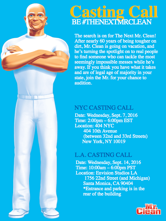 Be the Next Mr Clean