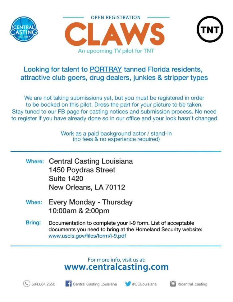 CLAWS Casting Call
