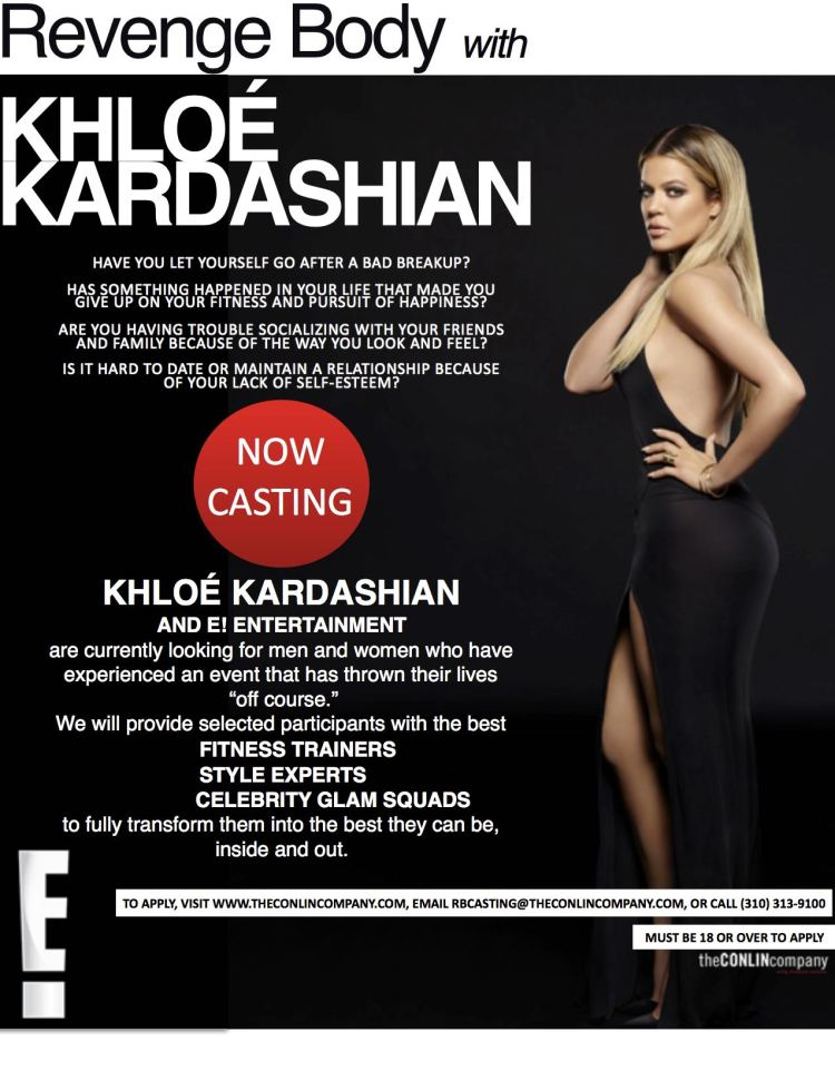 Revenge Body with Khloé Kardashian' Open Casting Call