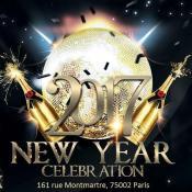 Affiche de la soirée du nouvel an au Bal Rock