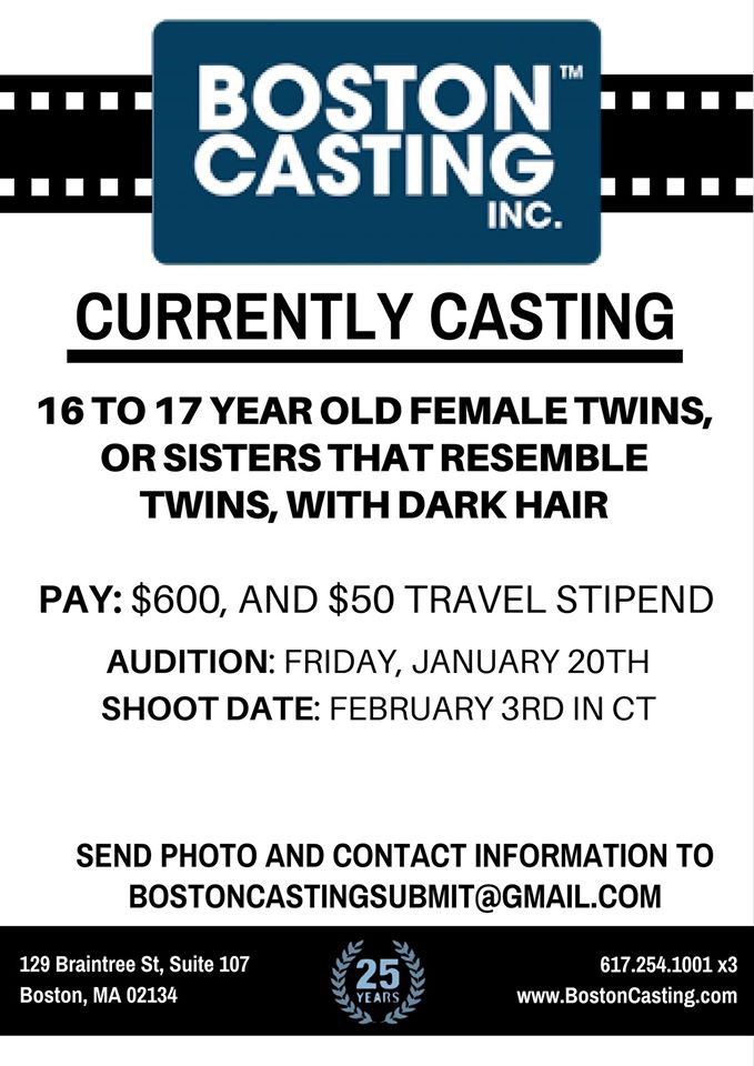 Acting auditions teens boston mass