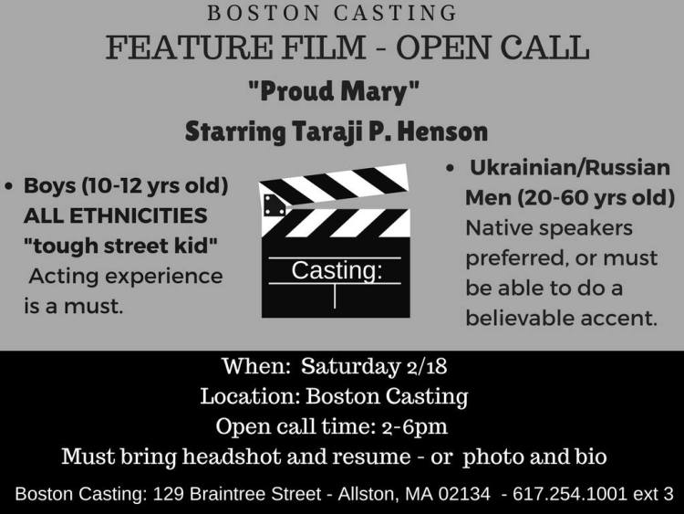 Proud Mary Casting Call