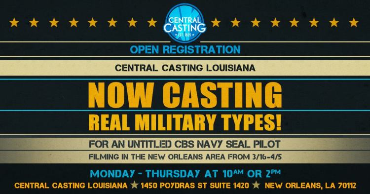 CBS Navy SEAL TV Pilot Open Casting Call - Casting WorldWide