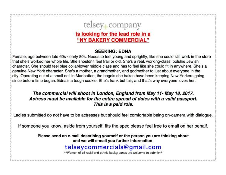 MAJOR Commercial Casting Call for Lead Roles in NYC - Casting