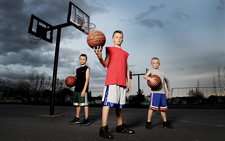 Sports Retailer Adult and Child Basketball Players